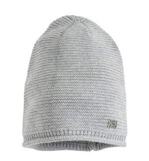 Sarabanda wool/cotton mix knitted beanie GREY