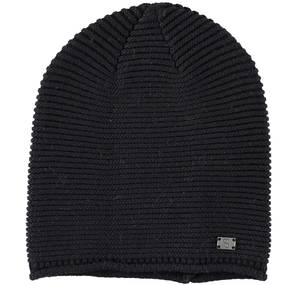 Sarabanda wool/cotton mix knitted beanie BLACK