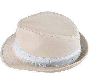 Cotton twill panama hat BEIGE