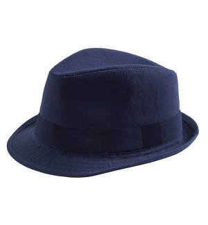 Cotton twill panama hat BLUE