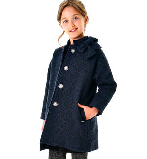 Soft cotton-padded coat   BLACK