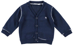 100% cotton long-sleeved baby boy cardigan BLUE