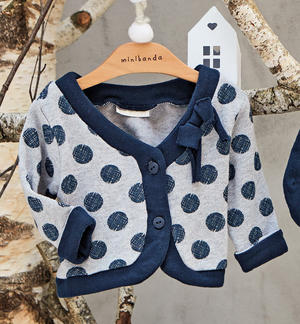 Short cardigan with polka dots GREY