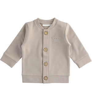 "100% organic cotton ""organic capsule"" fleece cardigan"