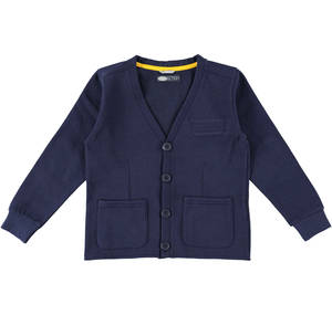 Fleece cardigan with buttons.  BLUE
