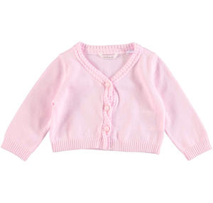 100% cotton tricot cardigan PINK
