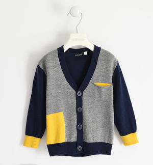Cardigan for boy with playing colours