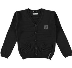 Cardigan with embossed knit BLACK