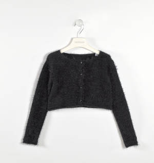 Tricot lurex cardigan  BLACK
