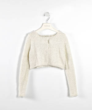 Tricot lurex cardigan  CREAM