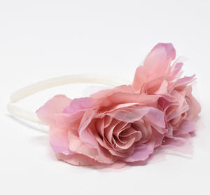 Headband with satin flower PINK
