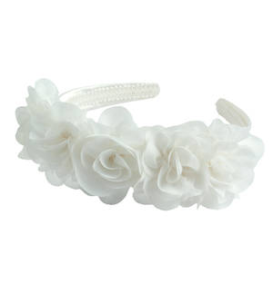 Hairband with roses CREAM