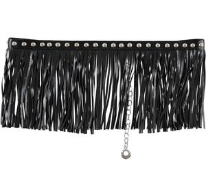 Belt with fringes  BLACK