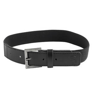 Elastic belt with faux leather ends BLACK