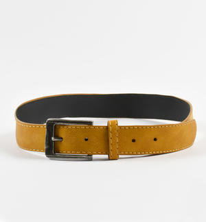 Faux leather belt for boys YELLOW