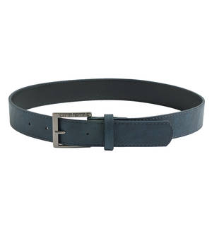 Sarabanda faux leather buckle belt BLUE