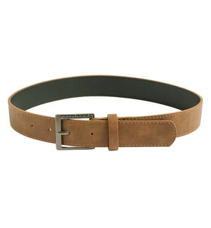 Sarabanda faux leather buckle belt BEIGE