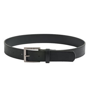 Sarabanda faux leather buckle belt BLACK