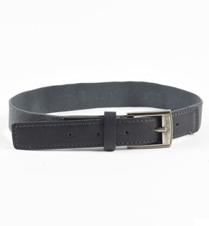 Belt made of elastic and eco-leather GREY