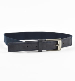 Belt made of elastic and eco-leather BLUE