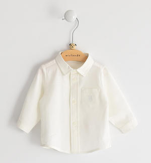 100% cotton shirt embellished with a pocket CREAM