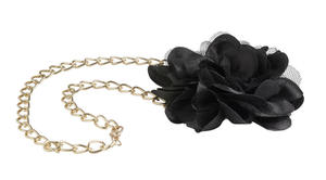 Necklace with tulle flower  BLACK