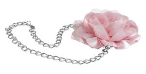 Necklace with tulle flower  PINK