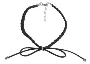 Braided necklace  BLACK