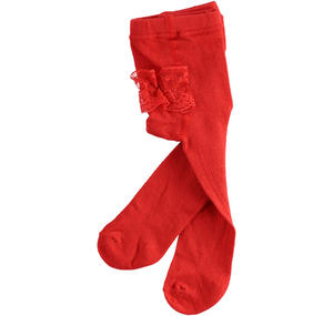 100% stretch cotton tights  RED
