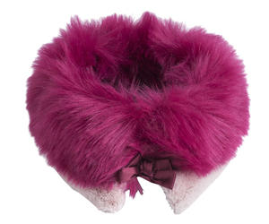 Faux fur collar  PINK