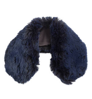 Soft synthetic fur collar BLUE