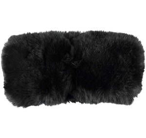 Soft synthetic fur collar BLACK