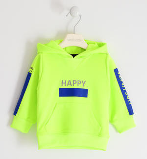 Colourful hooded sweatshirt with kangaroo pocket
