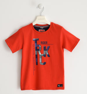Colourful 100% cotton t-shirt RED