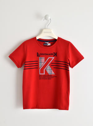 Comfortable cotton short-sleeve t-shirt RED