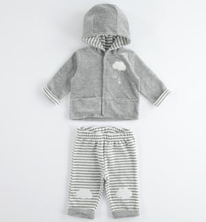 Comfortable and perfect newborn chenille onesie GREY