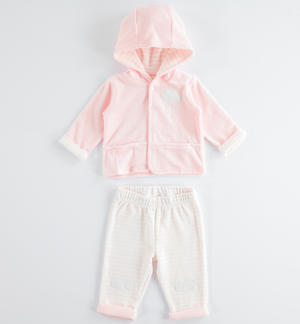 Comfortable and perfect newborn chenille onesie PINK