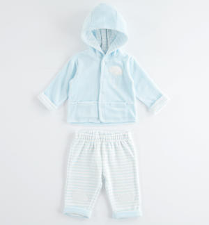 Comfortable and perfect newborn chenille onesie LIGHT BLUE