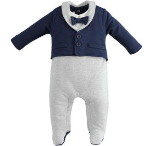 "Onesie entirely made of fleece and characterized by the ""double"" effect BLUE"