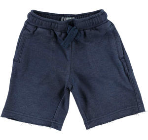 Comfortable and practical non brushed fleece shorts BLUE