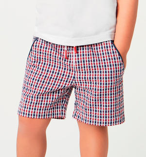 Comfortable boy¿s 100% cotton Bermuda shorts RED