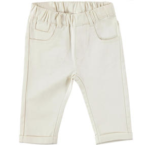 Comfortable cotton baby boy trousers ORANGE