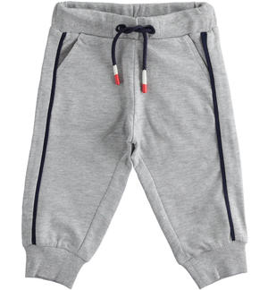 Comfortable and sporty light fleece trousers GREY