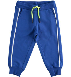 Comfortable and sporty light fleece trousers BLUE
