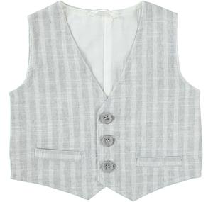 Comfortable and elegant ceremony vest for baby boy GREY