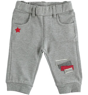 Comfortable fleece trousers for newborn baby GREY