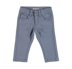 Comfortable slim fit trousers in stretch cotton twill    GREY