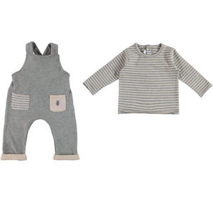 Dungaree and t-shirt outfit GREY