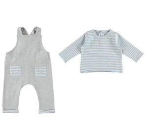 Dungaree and t-shirt outfit LIGHT BLUE