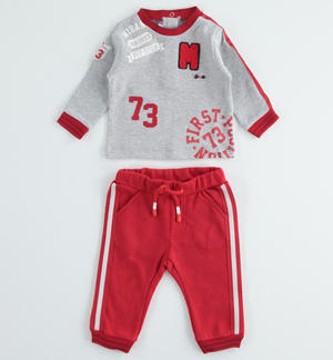 Baby warm cotton interlock set RED